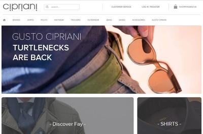 Online menswear store – Cipriani