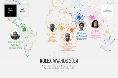 Rolex Awards for Enterprise – 2014 Rolex Young Laureates