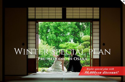 Winter special plan 2014 Pre-wedding in Osaka