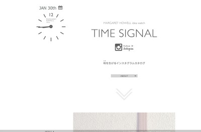 MARGARET HOWELL idea watch : TIME SIGNAL