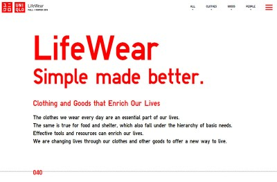LifeWear Simple made better.