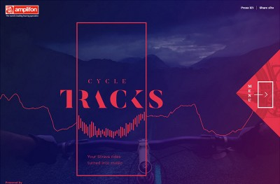 Strava Cycle Tracks – Music Generator