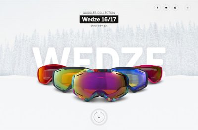 Wed'ze goggles simulator